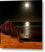 Moonset Over Windnsea Metal Print by Peter Tellone