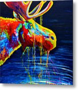 Moose Drool Metal Print by Teshia Art
