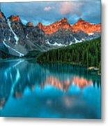 Moraine Lake Sunrise Metal Print by James Wheeler