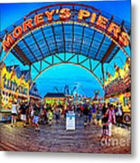 Moreys Piers In Wildwood Metal Print by Mark Miller