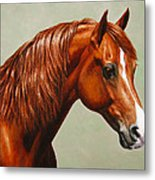 Morgan Horse - Flame Metal Print by Crista Forest