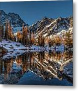 Morning At Horseshoe Lake Metal Print by Mike Reid