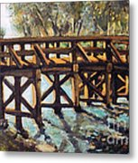 Morning At The Old North Bridge Metal Print by Rita Brown