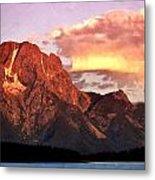 Morning Light On The Tetons Metal Print by Marty Koch