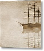 Morning Mist In Sepia Metal Print by John Edwards