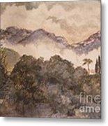 Morning Mist Pasadena Metal Print by Nancy Kane Chapman
