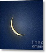 Morning Moon Textured Metal Print by Al Powell Photography USA