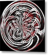 Morphed Art Globe 15 Metal Print by Rhonda Barrett