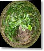 Morphed Art Globe 3 Metal Print by Rhonda Barrett