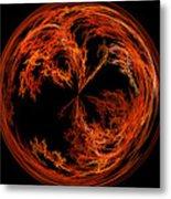 Morphed Art Globe 37 Metal Print by Rhonda Barrett