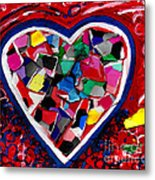 Mosaic Heart Metal Print by Genevieve Esson