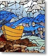 Mosaic Stained Glass - Dory  Metal Print by Catherine Van Der Woerd