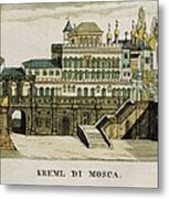 Moscow. Tsars Palace In The Kremlin Metal Print by Everett