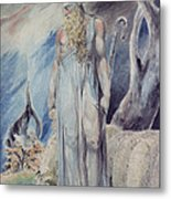 Moses And The Burning Bush Metal Print by William Blake