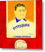 Most Expensive Baseball Card Honus Wagner T206 2 Metal Print by Richard W Linford