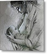 Mother And Baby Metal Print by Viola El