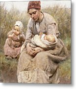 Mother And Child Metal Print by Robert McGregor