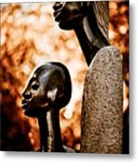 Mother And Son Metal Print by Venetta Archer