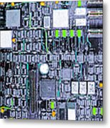 Motherboard Abstract 20130716 P38 Square Metal Print by Wingsdomain Art and Photography