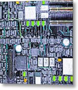 Motherboard Abstract 20130716 P38 Metal Print by Wingsdomain Art and Photography