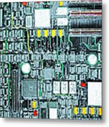 Motherboard Abstract 20130716 Metal Print by Wingsdomain Art and Photography