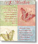 Mother's Day Butterfly Card Metal Print by Debbie DeWitt