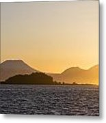 Mount Edgecome Sunset Metal Print by Tim Grams
