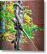 Mountaineer Statue Metal Print by Dan Friend