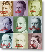Moustaches Metal Print by Tony Rubino