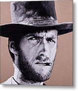 Mr. Eastwood Metal Print by Ellen Patton