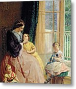 Mrs Hicks Mary Rosa And Elgar Metal Print by George Elgar Hicks