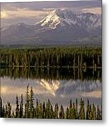 Mt Drum Over Willow Lake Wrangell-st Metal Print by Calvin Hall