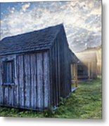 Mt Leconte Cabins Metal Print by Debra and Dave Vanderlaan