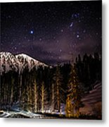 Mt. Rose Highway And Ski Resort At Night Metal Print by Scott McGuire