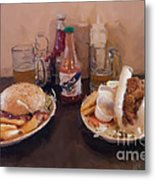 Muffaletta And Po-boy Metal Print by Kay Pickens
