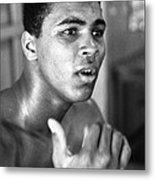 Muhammad Ali Intently Metal Print by Retro Images Archive