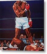Muhammad Ali Versus Sonny Liston Metal Print by Paul Meijering