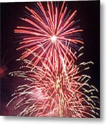 4th Of July Fireworks 1 Metal Print by Howard Tenke