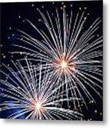 4th Of July Fireworks 3 Metal Print by Howard Tenke