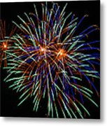 4th Of July Fireworks 22 Metal Print by Howard Tenke