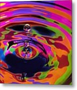 Multicolor Water Droplets 2 Metal Print by Imani  Morales