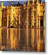 Musee Du Louvre Sunset Metal Print by Brian Jannsen