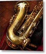 Music - Brass - Saxophone  Metal Print by Mike Savad