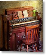 Music - Organist - Playing The Songs Of The Gospel  Metal Print by Mike Savad