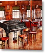 Music - Piano - The Grand Piano Metal Print by Mike Savad