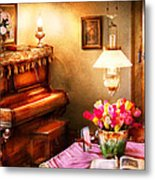 Music - Piano - The Music Room Metal Print by Mike Savad
