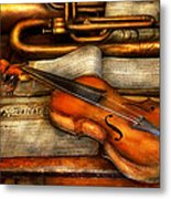 Music - Violin - Played It's Last Song  Metal Print by Mike Savad