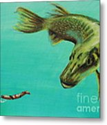 Muskie And The Lure Metal Print by Jeanne Fischer