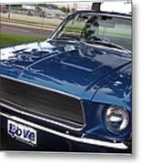 Mustang Classic Metal Print by Bobbee Rickard