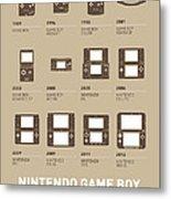 My Evolution Nintendo Game Boy Minimal Poster Metal Print by Chungkong Art